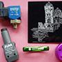 Marcatura e incisione laser su particolari in alluminio anodizzato